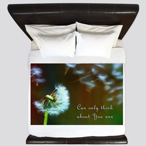 Dandelion 'Thinking About You' King Duvet