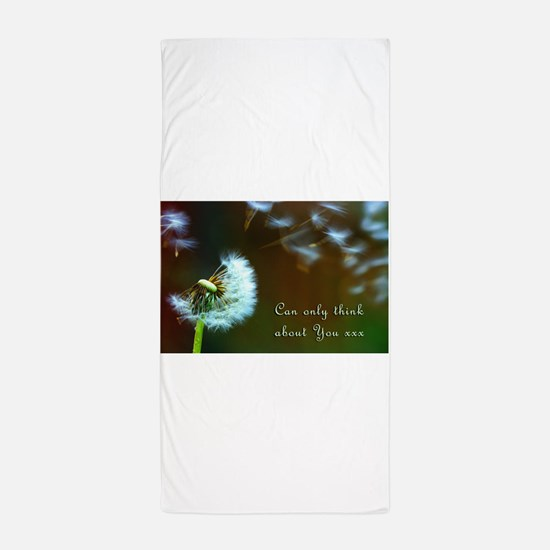 Dandelion 'Thinking About You' Beach Towel