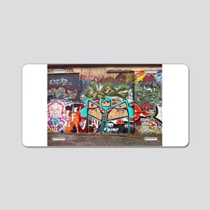Street Graffiti Aluminum License Plate