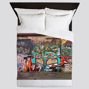 Street Graffiti Queen Duvet