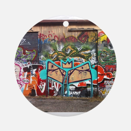 Street Graffiti Ornament (Round)