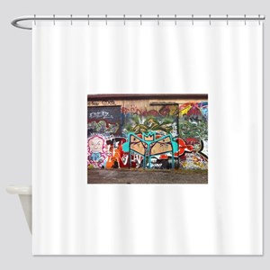 Street Graffiti Shower Curtain