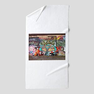 Street Graffiti Beach Towel