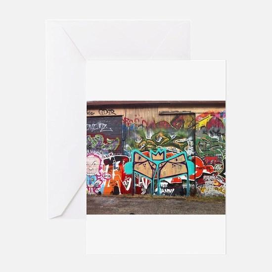 Street Graffiti Greeting Cards