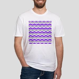 purple gray chevron T-Shirt