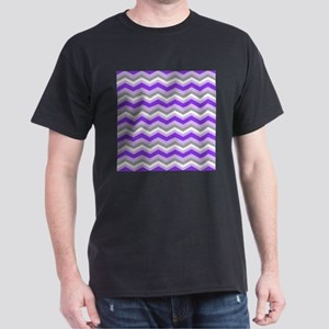 purple gray chevron T-Shirt