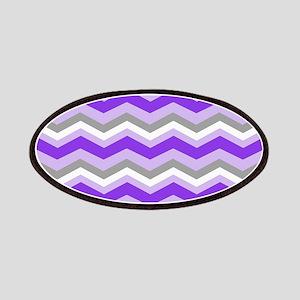 purple gray chevron Patches