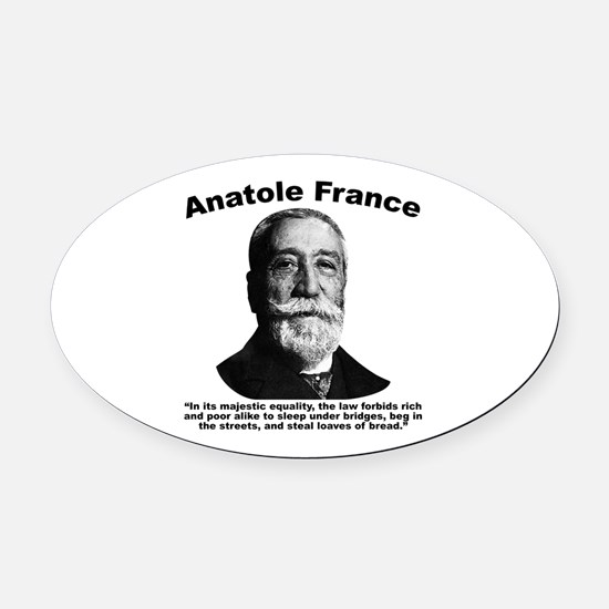 Law Oval Car Magnet
