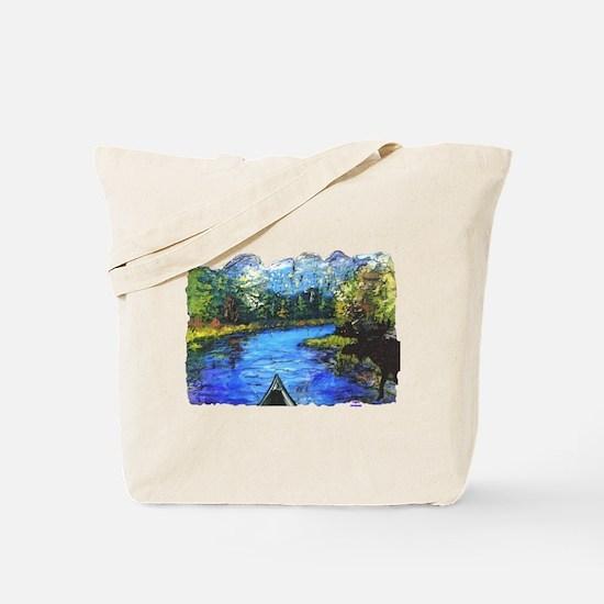 Moose Canoe t-shirt shop Tote Bag