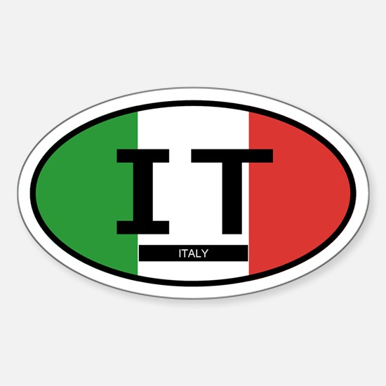 Italy Full Flag (Oval)