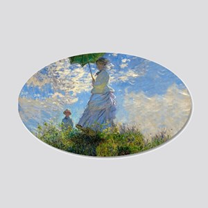 Woman with a Parasol Claude Monet Impressionist Wa