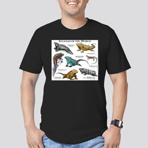 Iguanas of the World Men's Fitted T-Shirt (dark)