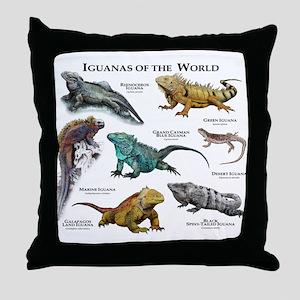 Iguanas of the World Throw Pillow