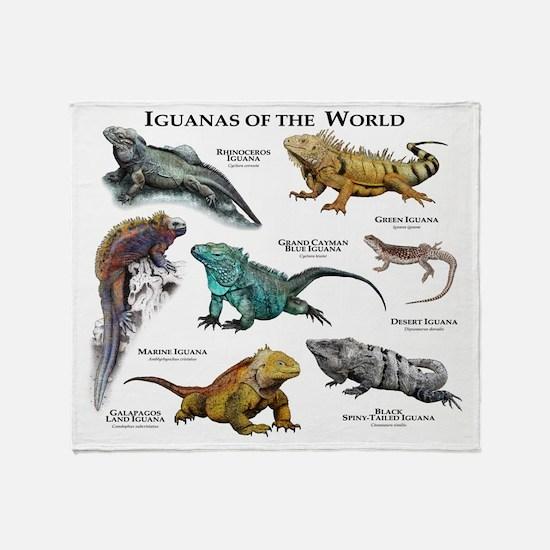 Iguanas of the World Throw Blanket