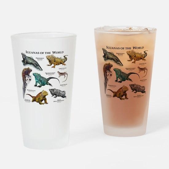 Iguanas of the World Drinking Glass