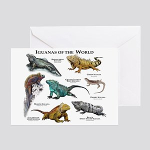 Iguanas of the World Greeting Card