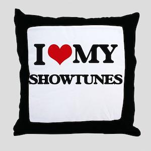 I Love My SHOWTUNES Throw Pillow