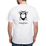 Doodlez Studios Badgee White T-Shirt