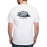 Doodlez Studios Badgee GRRR White T-Shirt