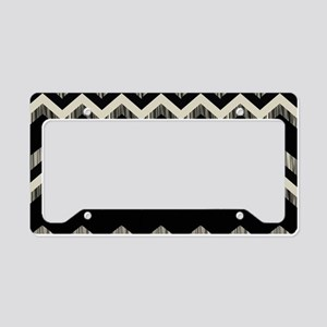 gray black chevron License Plate Holder