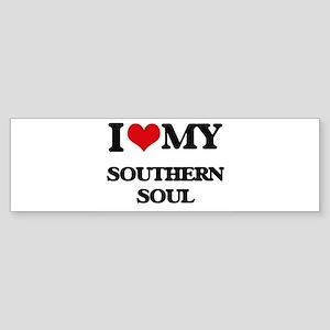 I Love My SOUTHERN SOUL Bumper Sticker