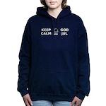 Keep Calm God Jul Women's Hooded Sweatshirt