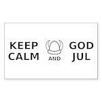 Keep Calm God Jul Sticker (Rectangle 50 pk)