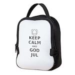 Keep Calm God Jul Neoprene Lunch Bag
