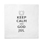 Keep Calm God Jul Queen Duvet