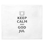 Keep Calm God Jul King Duvet