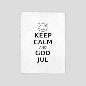 Keep Calm God Jul 5'x7'Area Rug