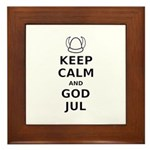 Keep Calm God Jul Framed Tile
