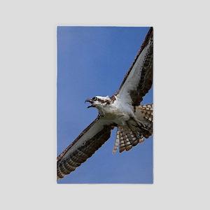 Osprey in Flight Area Rug