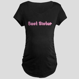 Best Sister Maternity Dark T-Shirt