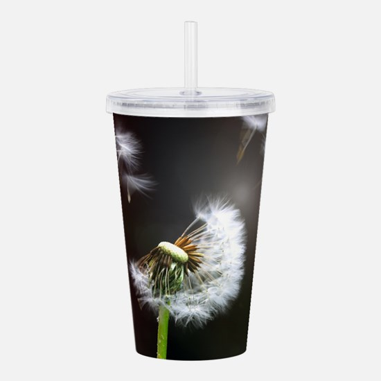 Dandelion blowing Acrylic Double-wall Tumbler
