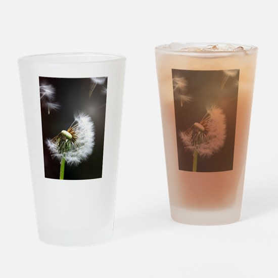 Dandelion blowing Drinking Glass