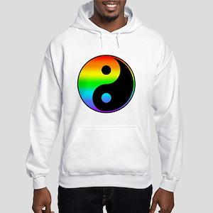 Rainbow Yin Yang Symbol Hoodie