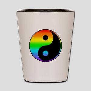 Rainbow Yin Yang Symbol Shot Glass