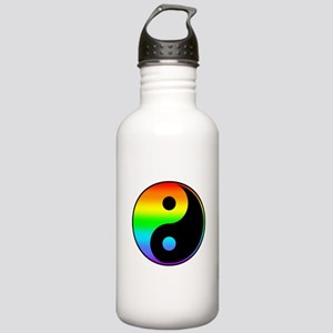 Rainbow Yin Yang Symbol Water Bottle