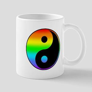 Rainbow Yin Yang Symbol Mugs