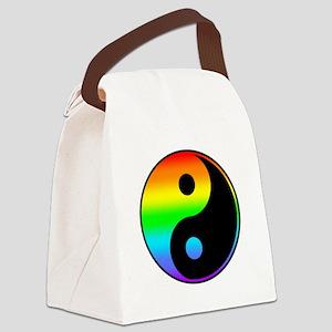 Rainbow Yin Yang Symbol Canvas Lunch Bag