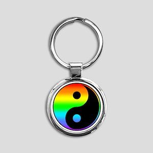 Rainbow Yin Yang Symbol Keychains
