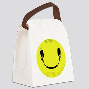 Smiley Canvas Lunch Bag