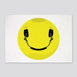 Happy Face Cool Smiley Office Supplies 5x7 Area Rugs Cafepress