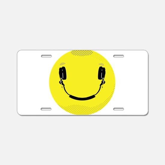 Smiley Aluminum License Plate