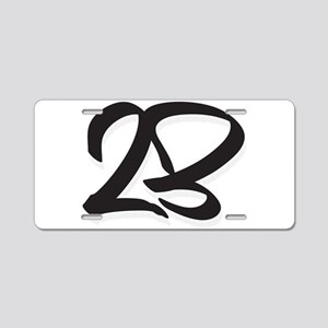 23 Aluminum License Plate
