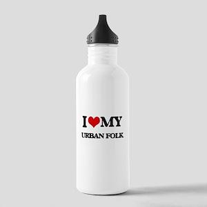 I Love My URBAN FOLK Stainless Water Bottle 1.0L