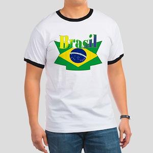 Brasil ribbon Ringer T