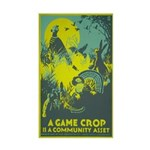 GAME CROP vinyl sticker