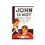 DULL JOHN vinyl sticker